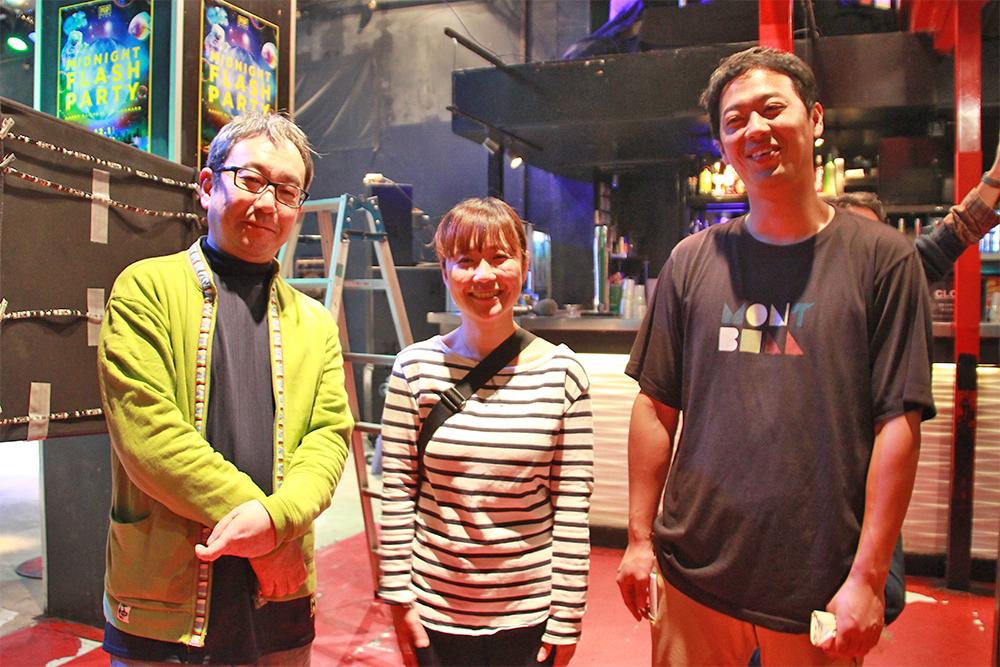 左からスチールで参加の七字幸久さん、応援でかけつけてくれた藤澤浩和さん