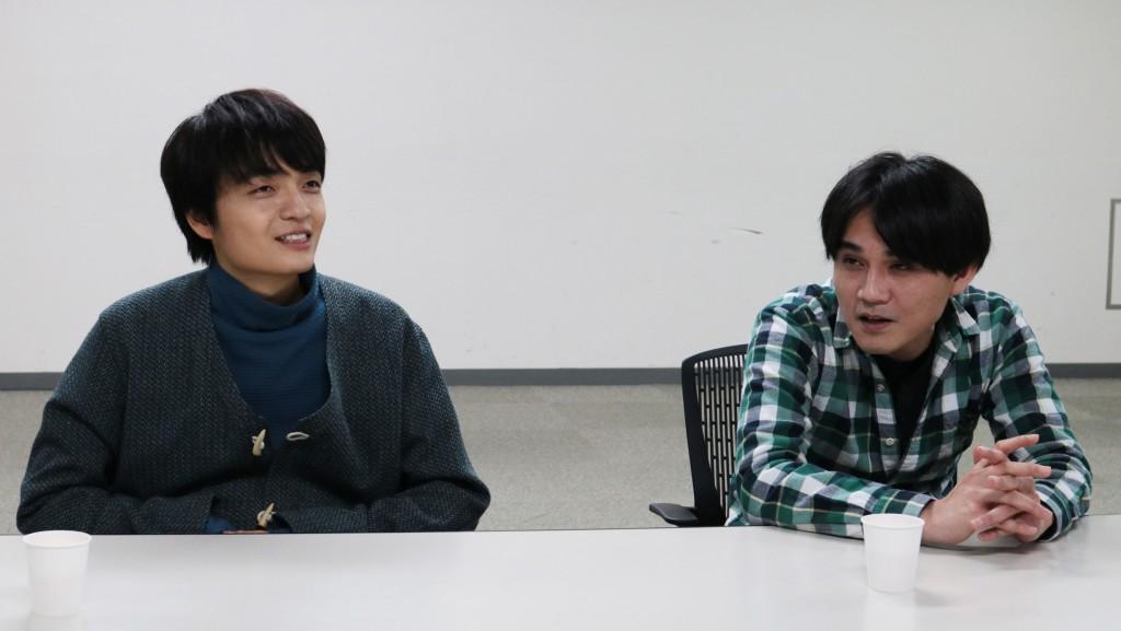 岡山天音さん(左)とndjc2014飯塚俊光監督